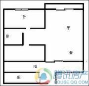 瑞升望江橡树林2室2厅1卫85平方米户型图