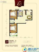 九乐倾城2室2厅1卫92平方米户型图