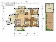 上上城・壹号院4室2厅3卫167平方米户型图