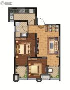 西元国际2室2厅1卫68平方米户型图