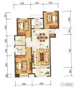 兰石豪布斯卡3室2厅2卫128平方米户型图