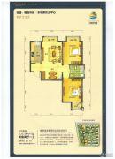 荣盛・锦绣外滩2室2厅1卫87平方米户型图