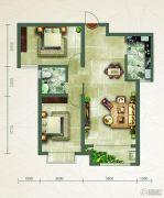 绿朗时光2室2厅1卫93平方米户型图