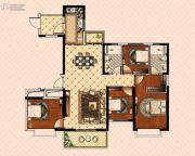 南昌恒大御景(原恒大帝景)4室2厅2卫143平方米户型图