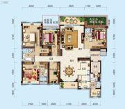 合浦碧桂园玖珑湾5室2厅4卫262平方米户型图