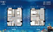 卉丰源花鸟古玩博览中心3室2厅2卫89平方米户型图