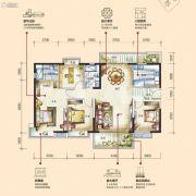 花园城孔雀湖4室2厅2卫0平方米户型图