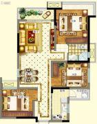 德阳万达广场3室2厅1卫84--93平方米户型图