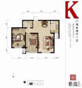 燕都紫庭2室2厅1卫90平方米户型图