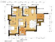 星光礼寓3室2厅2卫133平方米户型图