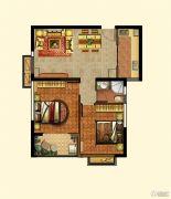 光辉乾城2室2厅1卫78--116平方米户型图