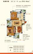 圣园2室2厅1卫91--96平方米户型图