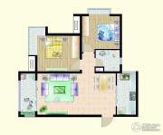 嘉宇枫尚2室2厅1卫92平方米户型图