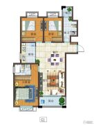 富源尚城3室2厅2卫114平方米户型图