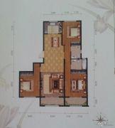 太公湖御泉湾3室2厅2卫138平方米户型图