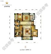 金科博翠园3室2厅2卫138平方米户型图