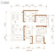成华奥园广场3室2厅1卫100平方米户型图