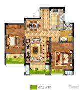碧桂园仙林东郡2室2厅1卫84平方米户型图