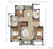 金昌越府3室2厅2卫127平方米户型图