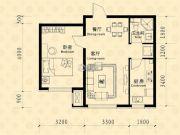中东凯悦公馆1室2厅1卫57--62平方米户型图
