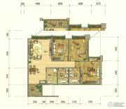七彩云南第壹城3室2厅2卫130--143平方米户型图