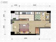 晋愉雅高国际1室1厅1卫47平方米户型图