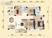 东湖国际城4室2厅2卫127平方米户型图