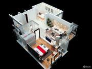 公园360°悦丽园2室2厅1卫92平方米户型图