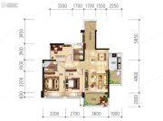 越亚天赐良园3室2厅2卫85平方米户型图