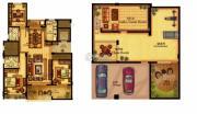 合力・铂金公馆3室2厅2卫136--137平方米户型图