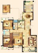 深业华府3室2厅2卫170平方米户型图