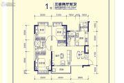 恒大天府半岛3室2厅2卫115平方米户型图