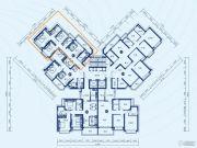 恒大御景半岛3室2厅2卫113平方米户型图