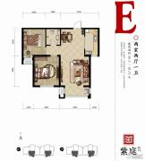 燕都紫庭2室2厅1卫93平方米户型图