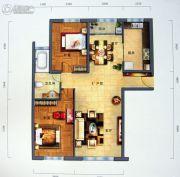 景园・盛世华都2室2厅1卫131平方米户型图