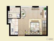 逸景湾1室1厅1卫36平方米户型图