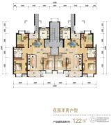 天津海航城0室0厅0卫122平方米户型图