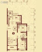 恒大山水城3室2厅1卫106平方米户型图