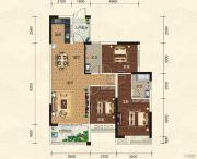 碧园・大城小院3室2厅2卫116平方米户型图