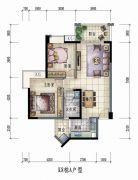 大信君汇湾2室2厅1卫86平方米户型图