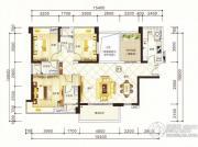 紫园3室2厅3卫145平方米户型图