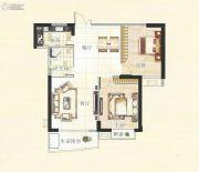 霞浦东泰华府2室2厅1卫89平方米户型图
