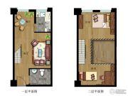 云立方2室2厅1卫41--79平方米户型图