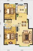 金地・红大蓝湾2室2厅1卫85平方米户型图