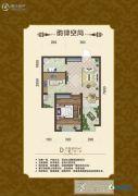 公园里1室1厅1卫60平方米户型图