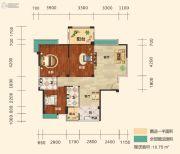 幸福东郡3室2厅2卫115平方米户型图