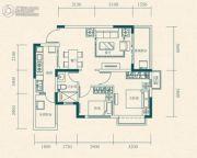 恒大世纪城2室2厅1卫65平方米户型图