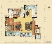 保利香榭里公馆3室2厅2卫173平方米户型图
