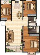 和富名苑3室2厅2卫132平方米户型图