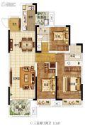 东润城3室2厅2卫115平方米户型图
